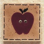 43010 - Quilt Square Apple - 1in x 1in